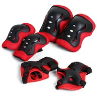 Wholesale NEW Hot set Skating Protective Gear Sets Elbow pads Bicycle Skateboard Ice Skating Roller Knee Protector For Adult Kids
