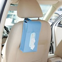 Wholesale Creative cotton tissue pumping paper towel folded pouch hang car pumping tray box organizer Storage Bag