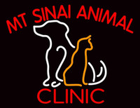 animal clinic - Mt Sinai Animal Clinic Neon Sign Custom Handmade Real Glass Tube Animals Pets Hospital Advertisement Display Neon Signs Light quot X14 quot