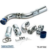 Wholesale TANSKY NEW SILVER Adjustable Universal JDM Inch Aluminium Air Filter Turbo Intake Intercooler Piping Pipe TK AF1022