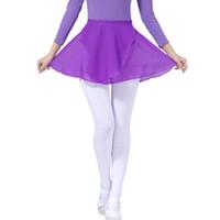 Wholesale Children Adult Chiffon Sheer Wrap Skirt Basic Classics Ballet Dance Skirt With Waist Tie Dance Wear