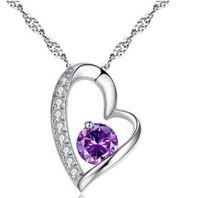 Wholesale women fashion sterling silver Sterling silver pendant Zircon pendant