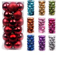 ball plastic store - Happy store Christmas Balls Ornaments Trees Parties Mini Tree Decorations Festive Party Supplies Home Garden