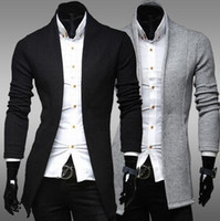 Wholesale Fall Clothing New Mens Casual Stand Collar Solid Color Fashion Jacket