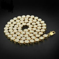 Wholesale Men Hip Hop Necklace Flower Cluster Black Iced Out Chain Necklace Simulated Diamonds Jewelry For Promtion