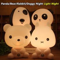 bear kung fu - Panda Bear Rabbit Doggy Kung Fu Panda Smart Lamp for Children Birthday Gift Place in Bedroom for Good Atmosphere Lovely House