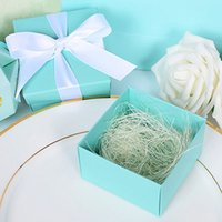 baby shower gifts cheap - cheap Tiffany Gold Paper Favor Box Gift Box Ribbon For Baby Shower Wedding Favors Gift package candy Box Supplies