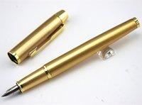 Logo d'entreprise cadeaux France-Vente en gros - Gold Metal Marque Stylo plume Encre Stylo de marque de luxe avec cadeau pour entreprise Cadeau Personnaliser Logo Livraison gratuite
