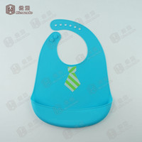Wholesale silicone baby bib food grade silicone BPA free non toxic mommy little helper J01