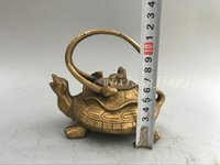 Wholesale Chinese Pure Brass Wealth Dragon Tortoise and Snake Statue Basaltic Statue