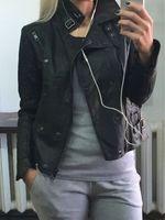 Wholesale New Hot Women Motorcycle Leather Jackets S XL Lady Long Sleeve Streetwear Faux Soft Leather Coat