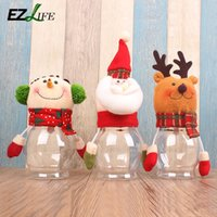 articles food - Creative Home Furnishing articles gift candy jar transparent decoration supplies cartoon snowman food cans of old man CT0276