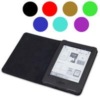 amazon reading - Whole Set for Amazon Kindle New Kindle Leather Ebook case LED Reading Light Matte Screen Protector Stylus