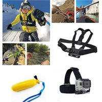 Wholesale 3in1 Sport Camera Accessories Set Floating Handle Helmet Harness Chest Belt Head Mount Strap Monopod For Gopro Hero