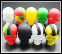 beverage containers - Skull Silicone Container Wax Dab Jar Platinum Cured Oil Cosmetic Containers
