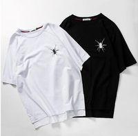Crew Neck ak shirt - Thrasher HarajukuBat Sleeve Man T shir Summer ape West Man t shirt D AK Spider Palace Yeezus Brand clothing