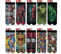 Wholesale Hot Selling Styles D Women Men Superhero Hip Hop ODD Cotton Skateboard Printed Gun Emoji Tiger Skull Socks