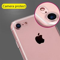 Wholesale camera protection Case cover For iPhone case Transparent Soft tpu Phone Bag Cases cover funda with dust plug