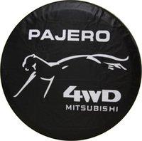 Housse de pneu de rechange pour roue arrière pour voiture Mitsubishi PAJERO 4WD Noir Housse de pneu pour pneu Nice Heavy Vinyl Nouveau