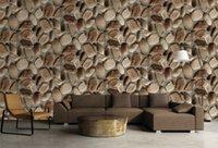 Acheter Fond d'écran d'ardoise-Papier peint 3d effet d'ardoise pierre papier peint faux rock ressemble à mur en pierre gros pour le restaurant salle de séjour