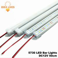 Wholesale LED Bar Lights DC12V LED Rigid Strip cm LED Tube with U Aluminium Shell PC Cover