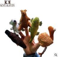 al por mayor felpa ornitorrinco-Venta al por mayor-Australia Koala cinco animales dedo marionetas incluso canguro fantoches cocodrilo dedo incluso platypus mano títere felpa muñeca
