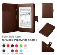 Casual amazon book stand - Luxury Flip PU Leather Case Smart Cover With Stylus Holder Stand For Kindle Paperwhite inch E book