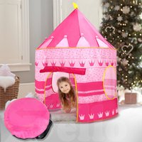 Wholesale New Kid Children Play Tent Pink Princess Castle Indoor Outdoor Playhouse Gift
