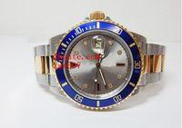 De alta calidad de zafiro azul luminiscente reloj de 40 mm de cerámica de dos tonos de oro 116613 116613LB Asia automático de los relojes para hombre