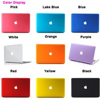 Wholesale Frosted colorful Macbook shell Laptop Netbook Case Cover for Air Retina Pro
