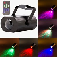 Wholesale RGB Water Wave Ripple Mini LED Stage Light DJ Party Effect Lighting Remote Control