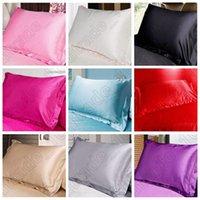 Wholesale High Quality Multi Colors Silk Pillow Cases Double Face Envelope Silk Pillowcase Charmeuse Silk Satin Pillow Cover CCA5624