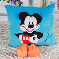 Wholesale Hot cm D Mickey Mouse and Minnie Mouse Plush Pillow Cushion Cartoon Mickey and Minnie Plush Toys for Home Decoration
