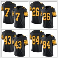 antonio american - Cheap Limited rush steelers Mens Le Veon Bell Antonio Brown jerseys Ben Roethlisberger TH american football Jerseys for free