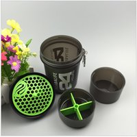 Wholesale 3 layers Water Bottle Fashion Portable Space Cup Herbalife Nutrition Custom Protein Powder Shaker Bottle