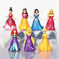 aurora bear - olls Accessories Dolls set Snow White Princess Action Figure Ariel Rapunzel Merida Cinderella Aurora Belle Princess Sexy Toys Girls