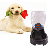 automatic pet food dispenser - ASLT Food Dish Bowl Feeder Pet Dog Cat Automatic Water Dispenser Grey Black Drinking Water Puppy Food Feed Dish Bowl Pet Water