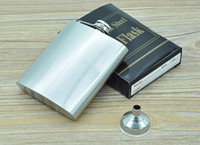 Wholesale Stainless Steel Hip Flask oz Portable Hip Flasks Outdoor Flagon Ounce Whisky Stoup Wine Pot Alcohol Bottles HOT JF