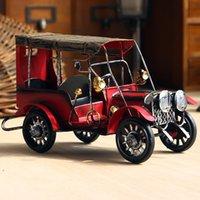 Wholesale Classic Vintage Car Model Handmade Iron Creative Desktop Decor Christmas Gift High Quality Birthday Present