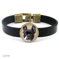 Charm Bracelets best dog photos - Best Cabochon Dog Glass Photo Leather Cuff Bracelets For Men Women Friendship Vintage Casual Wristband Jewelry
