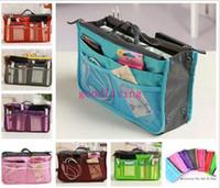 Wholesale H Quality Women Fashion Organizer Travel Bag Purse Handbag Insert Tidy Makeup Cosmetic bag Storage Phone bag Pouch Tote Sundry MP3 Mp4 bags