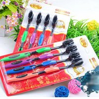 Wholesale Hot Selling New Double Ultra Soft Toothbrush Bamboo Tooth Brush Charcoal Nano Brush Oral Care PTSP