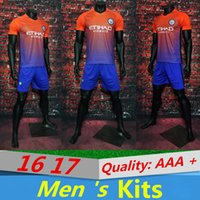 Wholesale AAA Quality Manchester City Second Away Kit KUN AGUERO DE BRUYNE STERLING SILVA TOURE YAYA Wholesal