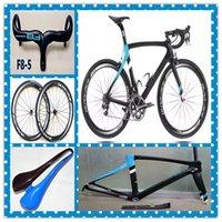 Wholesale Newest Fashion F Black Blue carbon complete bike with T1100 K K road bike carbon Frames mm carbon road bike Wheels