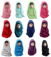 Wholesale Pretty Baby Shawls and scarves solid plain hijab scarf women wraps foulard viscosecotton maxi shawls soft long islamic muslim scarves hijabs