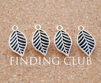 antique gold filigree - Antique Silver Filigree leaf Charms DIY Jewelry Making Pendant Charm x10mm A945