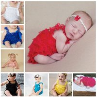 Wholesale Infant Rompers baby ribbon rompers lace romper Baby One Piece bowknot bodysuit free ship
