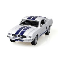 Wholesale Kinsmart Mustang Shelby GT500 White alloy Diecast Metal Pull Back Car Toy For Gift Collection
