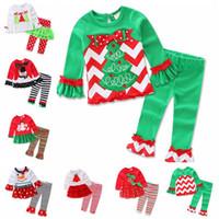 Wholesale Christmas Pajamas New Trees Snowman Deer Kids Pajama Sets Children Sleepwear Nightwear Family Christmas Pajamas Toddler Baby Pyjamas