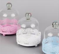 Mini stand single cupcake avec dôme en verre métal cupcake titulaire affichage décoration pour l'événement mariage bakeware gâteau outils
